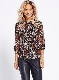 Leopard print shirt size 14. Very Myleene Klass.