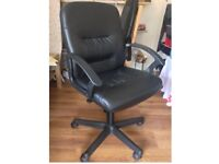Comfortable office chair leather