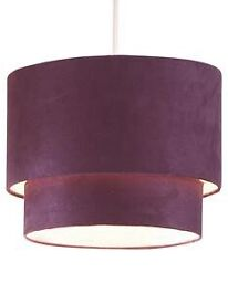 Faux suede plum light shade