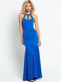 Myleene Klass Cut Out Back Maxi Dress - Cobalt Size 12