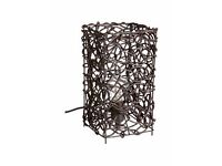 Black/Dark Brown Rattan Table Lamp