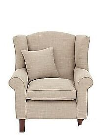 Linen Look armchair