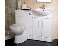 Back to Wall Toilet & Basin Furniture Suite Vanity Unit . Exclusive Offer ONLY £199
