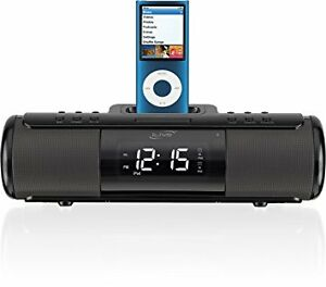 iLive ISP209B Portable Speaker System with Alarm Clock and Dock