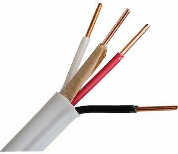 New Romex Wire 14 Ga 3 Conductor 14-3 15a 600v - Cut To Size Per 10 - White