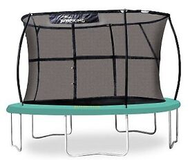 JumpKing CLASSIC Premium 10 ft Trampoline with enclosure - great condition RRP£319