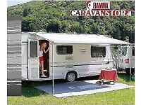 FIAMMA CARAVAN STORE 190 GREY WAVE EDITION CARAVAN AWNING CANOPY ROLL OUT SHADE.