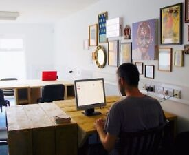 Desk spaces available within creative shared workspace, Seven Sisters