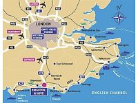 Flight + train Edinburgh - London Gatwick - Newhaven 20/21 May