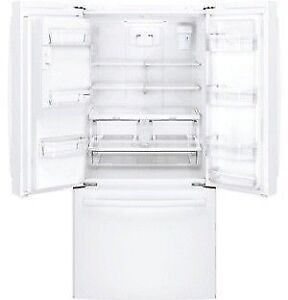 GE WHITE 25 CUFT FRENCH DOOR FRIDGES AT REAL DEALS
