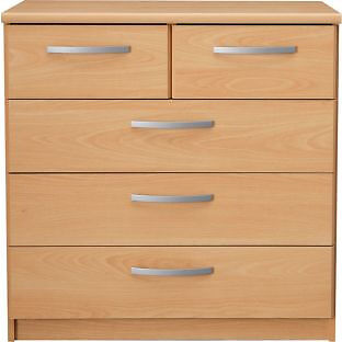 New Hallingford 3+2 Drawer Chest - Beech Effect