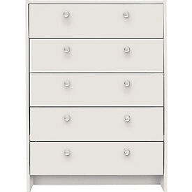 Seville 5 Drawer Chest - White