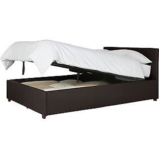 Hygena Lavendon Small Double Bed Frame - Chocolate