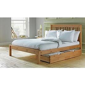 Aspley Small Double Bed Frame - Oak Stain