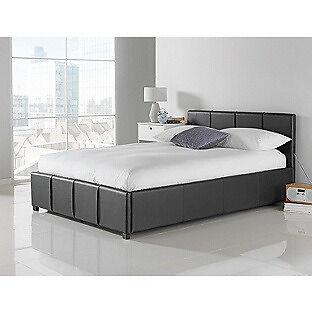 Hygena Hendry Kingsize Ottoman Bed Frame - Black