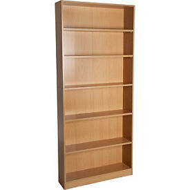 Maine Tall Wide Bookcase - Beech Effect