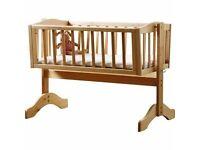 Saplings Bethany Swinging Crib - Natural