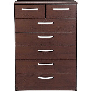 New Hallingford 5+2 Drawer Chest - Wenge Effect