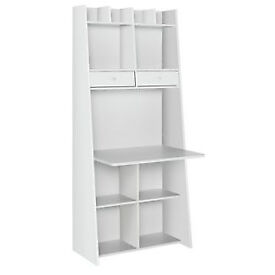 Auckland Wall Unit Desk - White