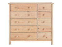 Scandinavia 5+5 Drawer Chest - Pine