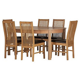 Coleridge Extendable Oval Table and 6 Paris Chocolate Chairs