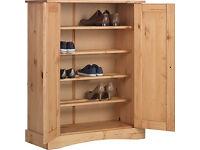 Puerto Rico 2 Door Storage Cabinet - Solid Antique Pine