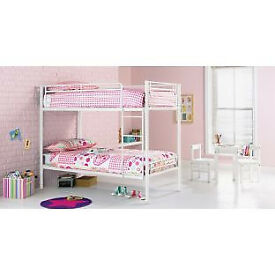 Samuel Shorty Bunk Bed Frame - White