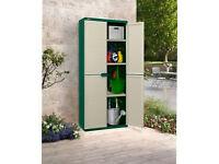 Cream Medium Plastic Garden Storage Unit