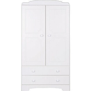 Nordic 2 Door 2 Drawer Wardrobe - White