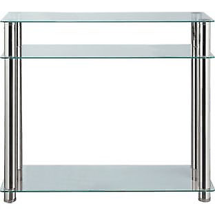 Hygena Matrix Console Table - Clear Glass