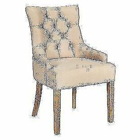 Heart of House Pair of Cream Cherwell Dining Chairs NEW