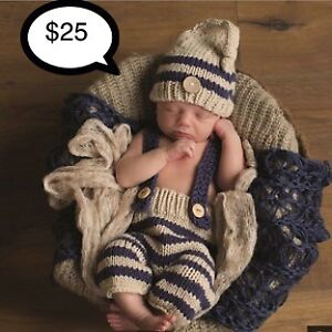 Baby outfits, photo prop, costume, hand made !