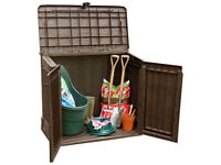Brown Keter Plastic Woodland Midi Store It Out Shed