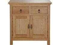 Knightsbridge 2 Door 2 Drawer Mini Sideboard - Oak