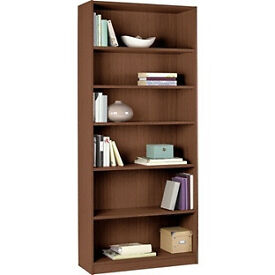 Maine Tall and Wide Extra Deep Bookcase - Walnut Effect