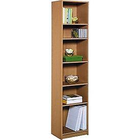 Maine Half Width Tall Extra Deep Bookcase - Oak Effect