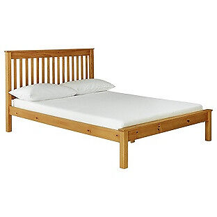 """Collection Aspley Small Double Bed FrameOak Stainin Coventry, West MidlandsGumtree - It is new in box. Perfect condition. Please call or message me if you want to get more info on it. """"Part of the Aspley collection. Solid wood frame. Base with wooden slats. Size W130, L203, H102cm. 21cm clearance between floor and underside of bed...."""