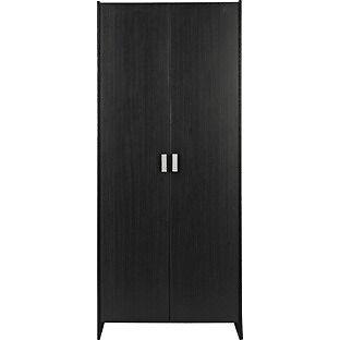 New Capella 2 Door Wardrobe - Black Ash Effect