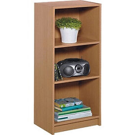 Maine Half Width Small Extra Deep Bookcase Oak Effect