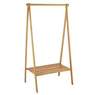 Bamboo Foldable Clothes Rail