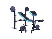 WOW Men's Health Folding Workout Bench with 35kg Weights