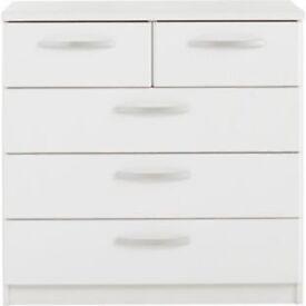New Hallingford 3+2 Drawer Chest - White