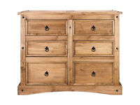 Puerto Rico 3+3 Drawer Chest - Dark