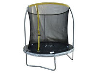 8 feet trampoline + safety enclosure + circus cover=> excellent state / only used a couple of months