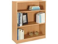 Maine Small Extra Deep Bookcase - Beech Effect
