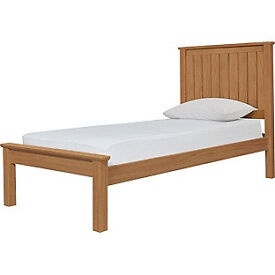 Grafton Single Bed Frame - Oak Stain.