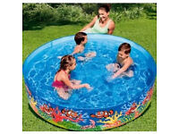 Chad Valley Ocean Snapset Paddling Pool - 6Ft