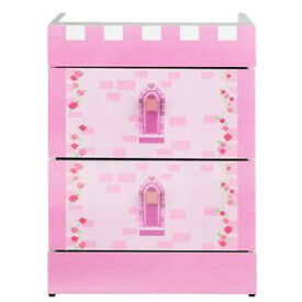 Princess 2 drawer beside - Pink
