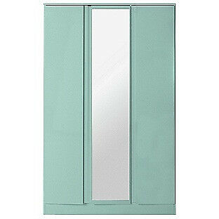 Hygena Inanna 3 Door Mirrored Wardrobe - Duck egg