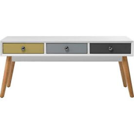 Retro Style 6 Drawer Coffee Table - Multicoloured